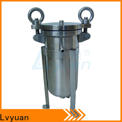 professional stainless steel filter housing with fin end cap for sea water treatment