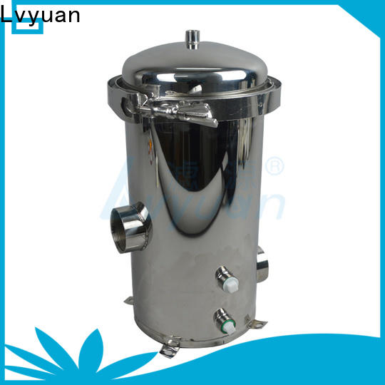 Lvyuan titanium stainless steel water filter housing with fin end cap for sea water treatment