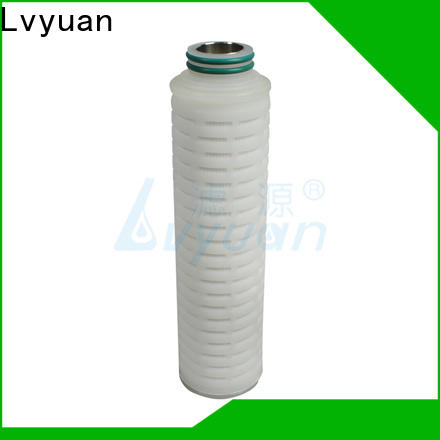 Lvyuan water pleated filter manufacturers with stainless steel for liquids sterile filtration