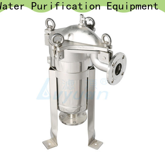 Lvyuan efficient stainless steel bag filter housing with fin end cap for sea water treatment