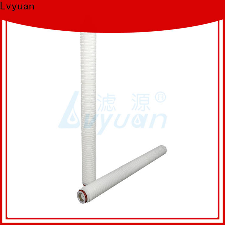 Lvyuan pvdf pleated water filter cartridge replacement for liquids sterile filtration