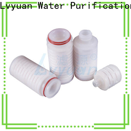 Lvyuan pleated filter with stainless steel for liquids sterile filtration