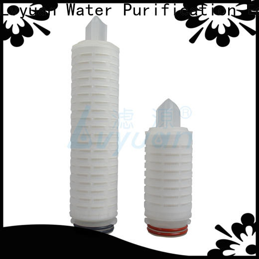 Lvyuan nylon pleated filter with stainless steel for industry