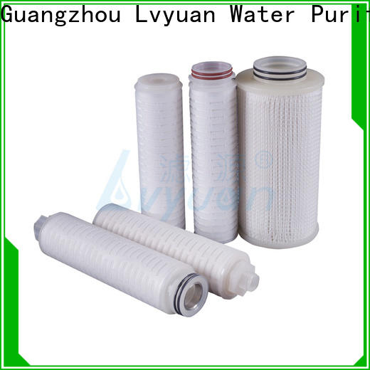 Lvyuan pes pleated filter cartridge supplier for industry