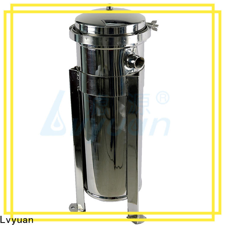 Lvyuan titanium stainless water filter housing with fin end cap for oil fuel