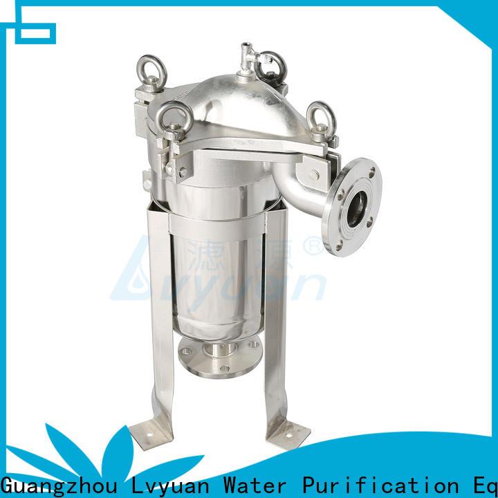 Lvyuan best stainless steel cartridge filter housing rod for sea water desalination