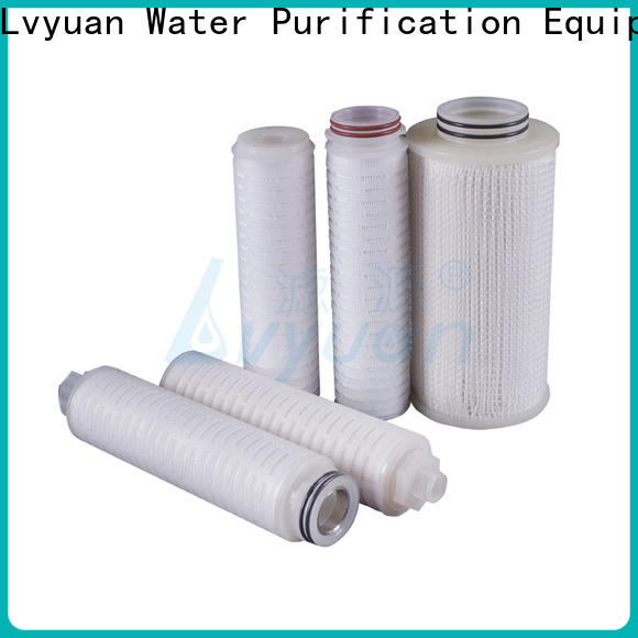 nylon pleated water filters with stainless steel for liquids sterile filtration