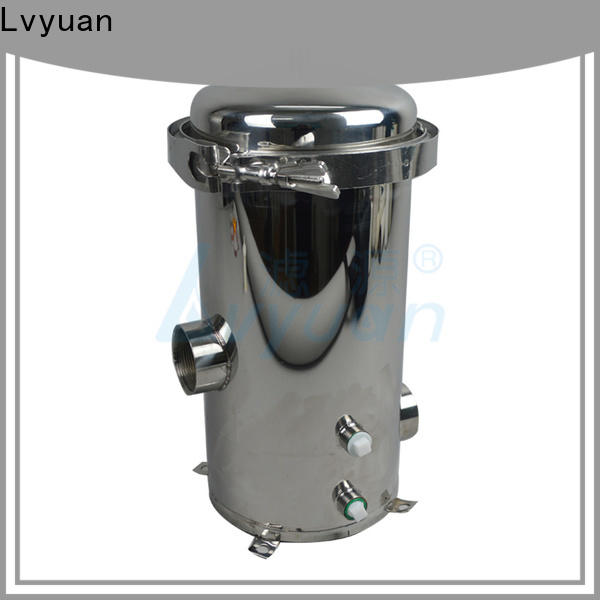 Lvyuan ss filter housing manufacturers with fin end cap for oil fuel