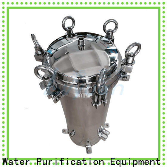 Lvyuan efficient stainless water filter housing with fin end cap for industry