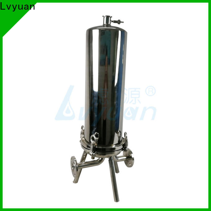 Lvyuan titanium stainless steel water filter housing with fin end cap for industry