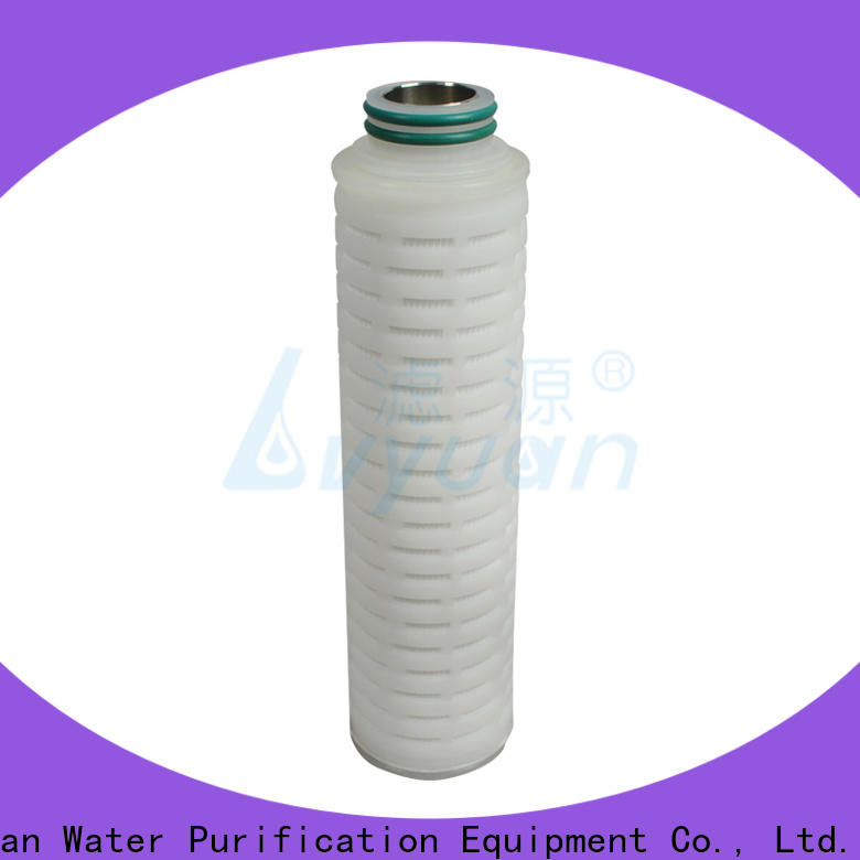 Lvyuan membrane pleated water filter cartridge with stainless steel for food and beverage