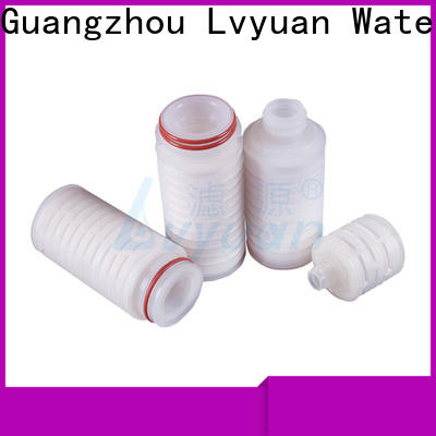 pvdf pleated filter element with stainless steel for diagnostics
