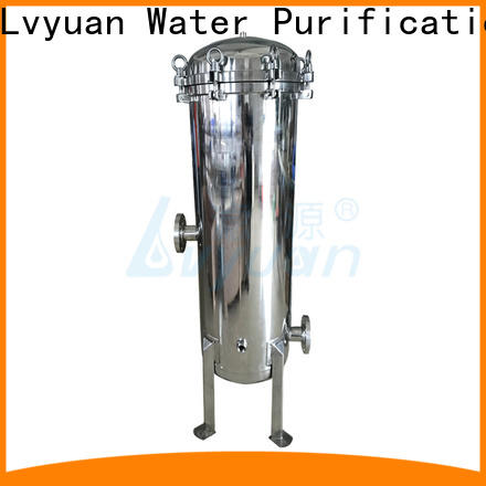 high end stainless water filter housing with fin end cap for sea water desalination
