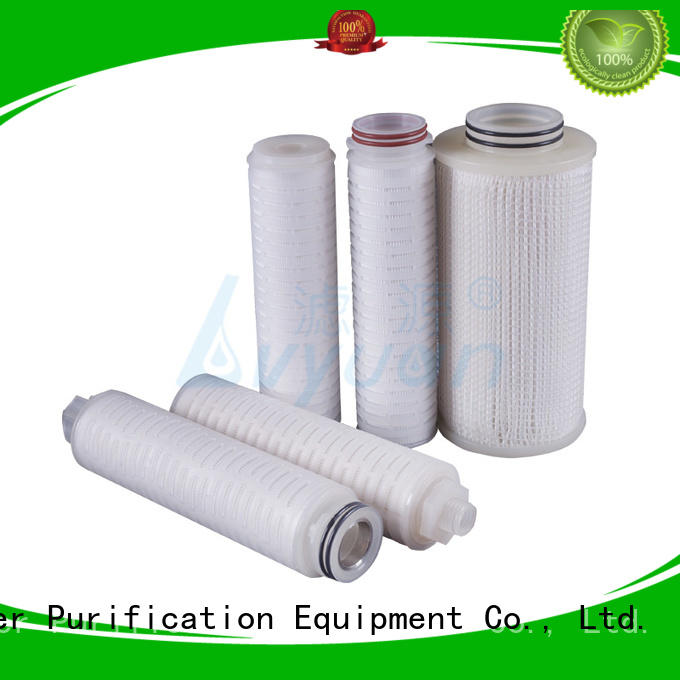 0.45 micron PVDF fliter membrane pleated filter cartridge 10 inch