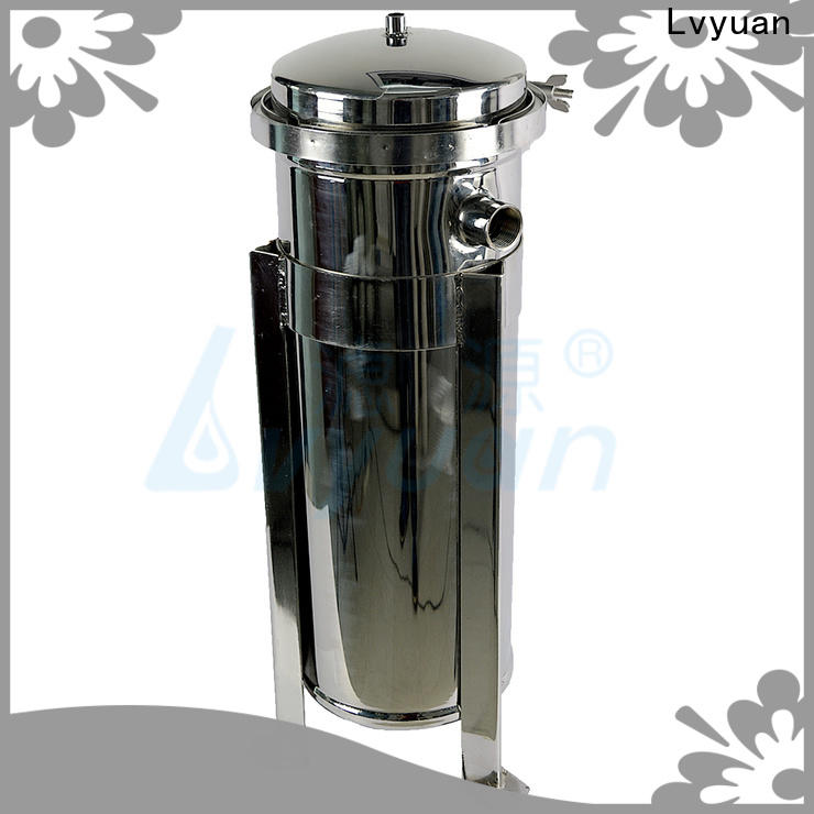 Lvyuan high end stainless steel filter housing manufacturers with fin end cap for food and beverage