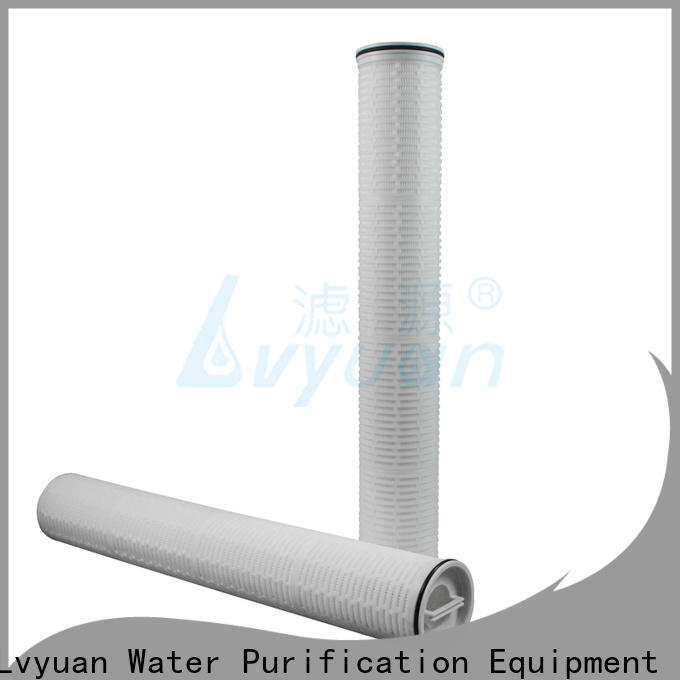 Lvyuan high flow pleated filter cartridge park for sea water desalination