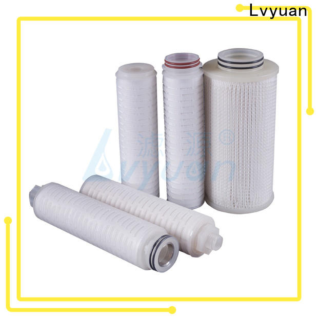 Lvyuan membrane pleated filter manufacturers supplier for liquids sterile filtration