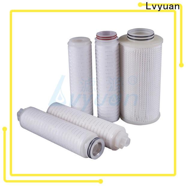 Lvyuan membrane pleated filter manufacturers supplier for liquids sterile filtration