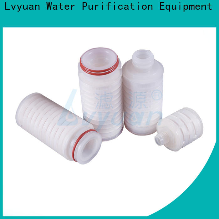 Lvyuan nylon pleated filter cartridge suppliers manufacturer for food and beverage