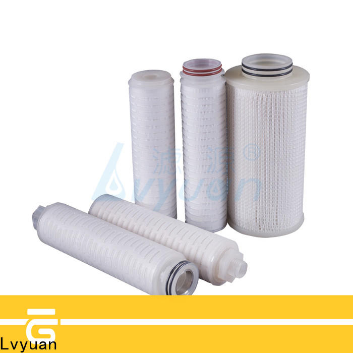 Lvyuan ptfe pleated water filter cartridge replacement for sea water desalination