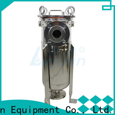 professional stainless water filter housing with fin end cap for industry