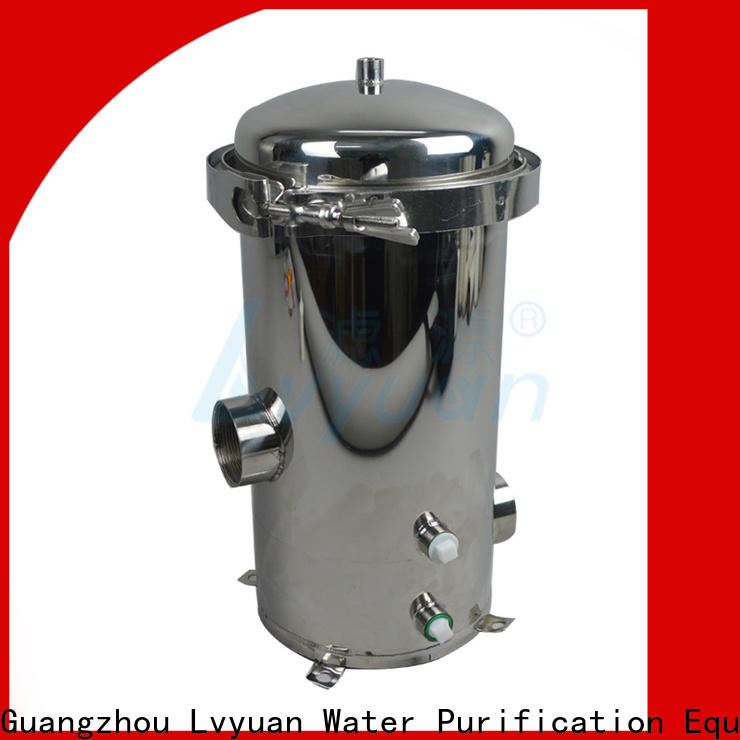 Lvyuan efficient stainless steel filter housing housing for sea water treatment