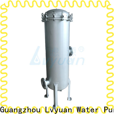 Lvyuan professional ss cartridge filter housing with fin end cap for industry
