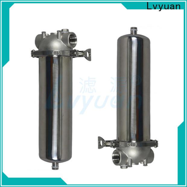 Lvyuan stainless steel cartridge filter housing manufacturer for oil fuel