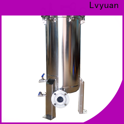 Lvyuan titanium stainless steel filter housing with fin end cap for industry