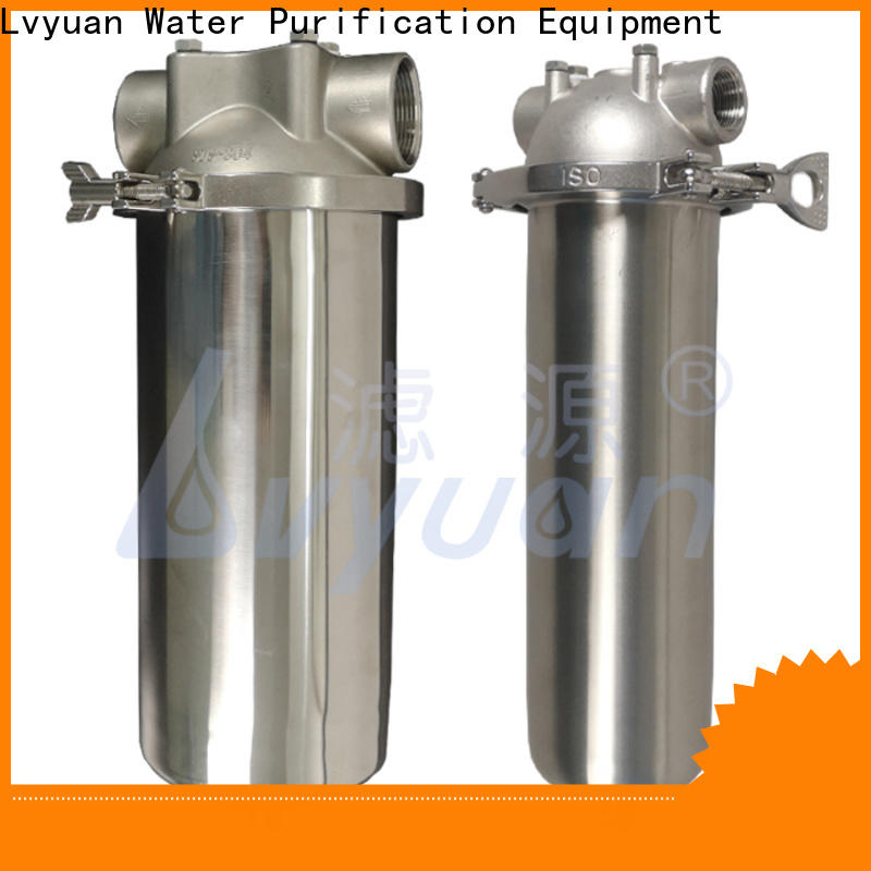 Lvyuan titanium stainless filter housing with core for oil fuel