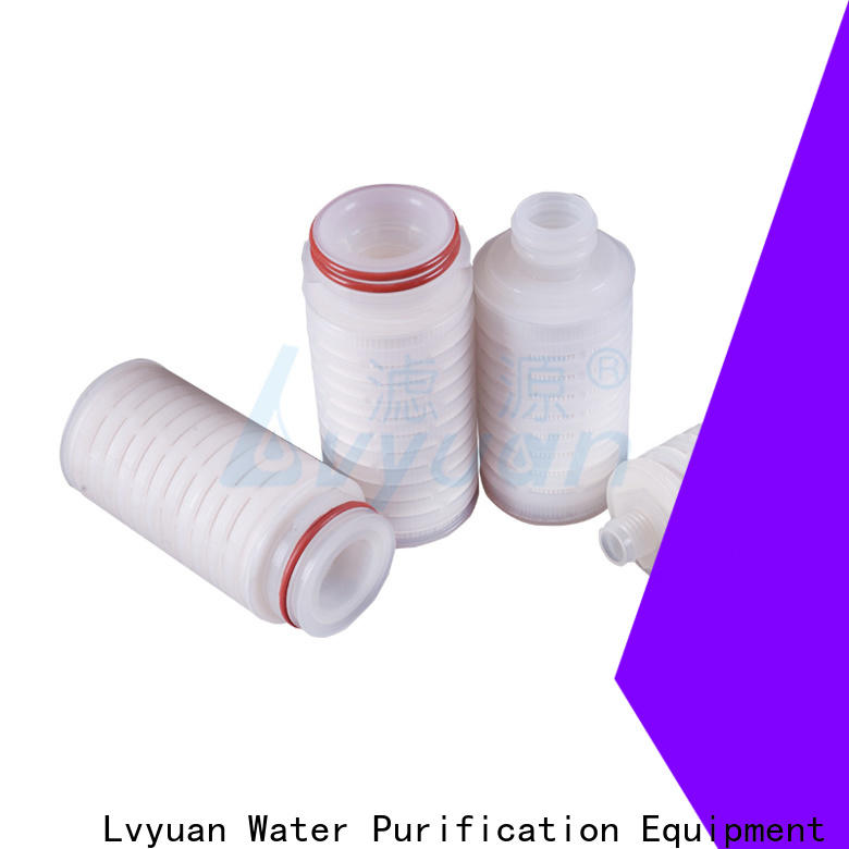Lvyuan nylon pleated water filters manufacturer for food and beverage