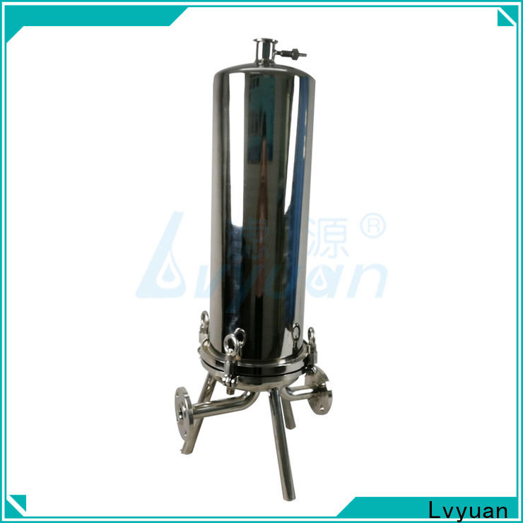 porous stainless filter housing with fin end cap for sea water desalination