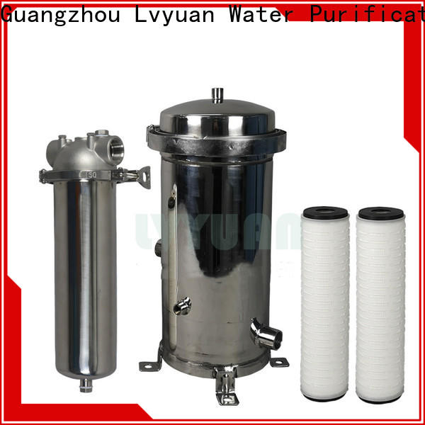 Lvyuan high end stainless steel bag filter housing with core for industry