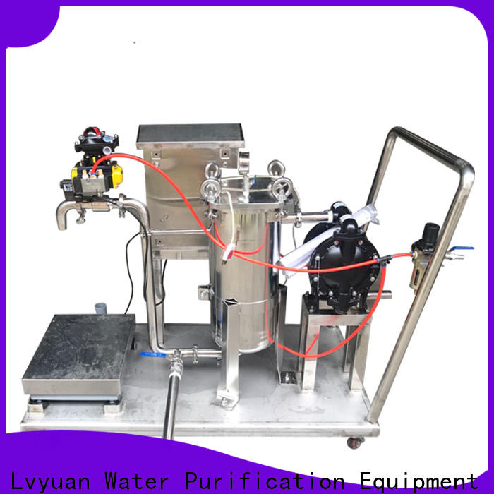 Lvyuan high end ss bag filter housing with core for oil fuel