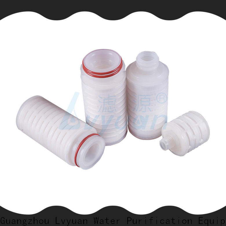 Lvyuan pleated filter manufacturers with stainless steel for food and beverage