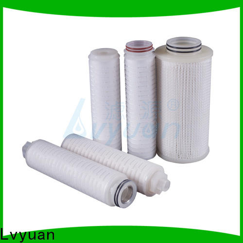 Lvyuan pes pleated filter with stainless steel for food and beverage