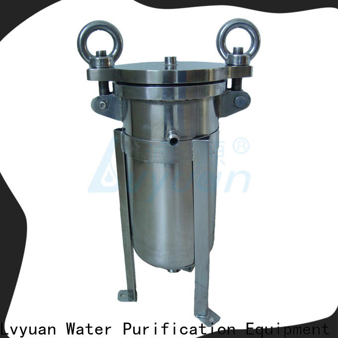 Lvyuan best stainless steel cartridge filter housing with fin end cap for industry