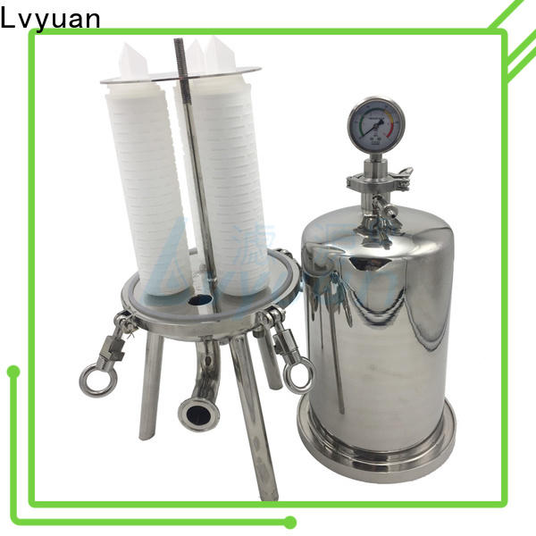 efficient stainless steel bag filter housing with core for sea water treatment
