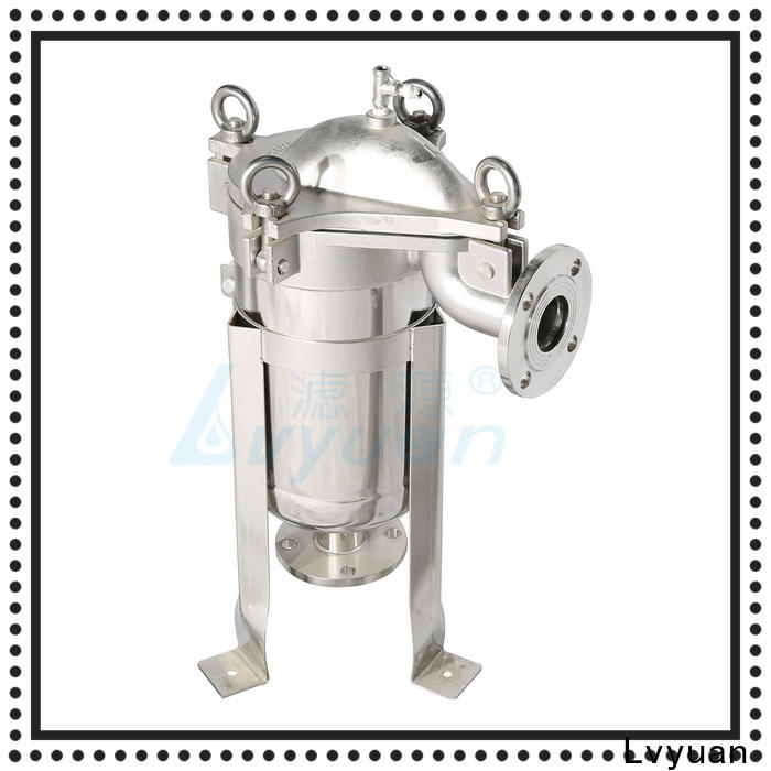 Lvyuan professional stainless steel water filter housing with core for food and beverage