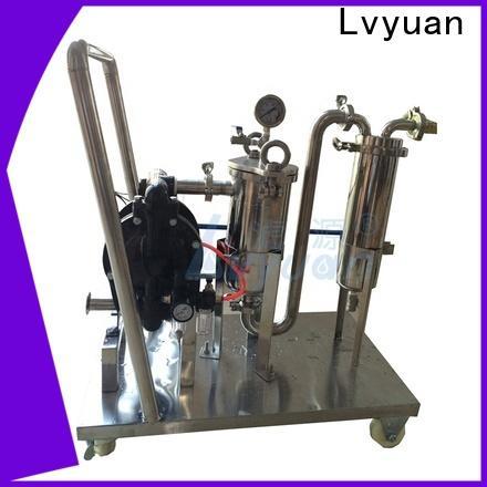 Lvyuan best ss bag filter housing housing for food and beverage