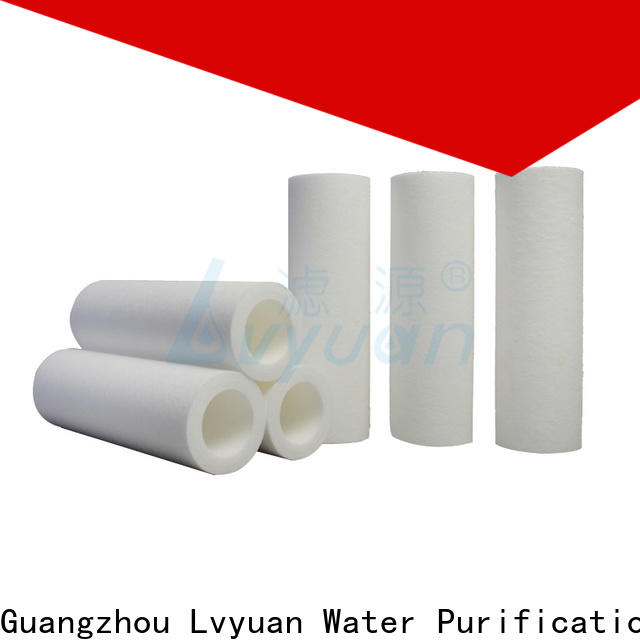 Lvyuan customized pp melt blown filter cartridge replacement for food and beverage