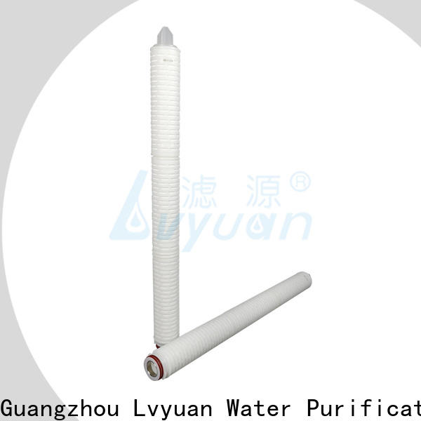 Lvyuan pvdf pleated filter element supplier for food and beverage