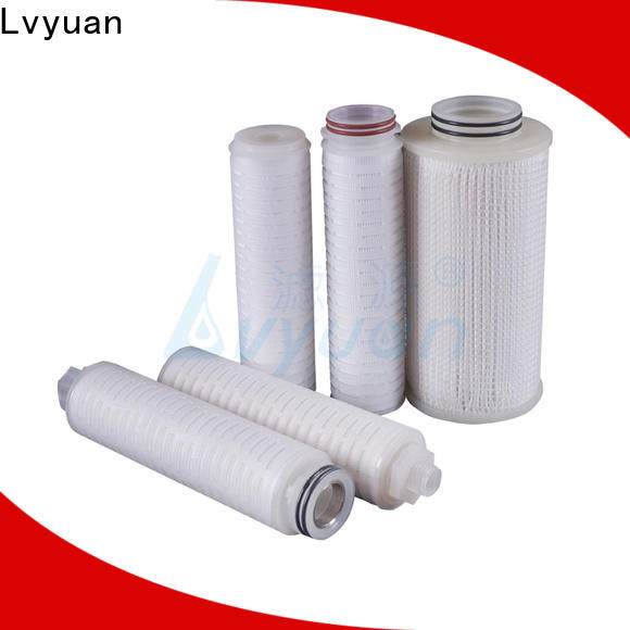 pvdf pleated water filters with stainless steel for organic solvents