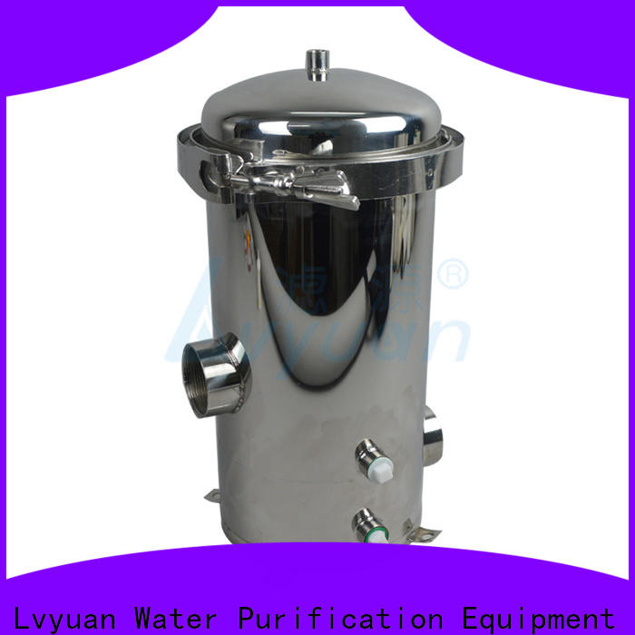 Lvyuan ss bag filter housing with fin end cap for oil fuel