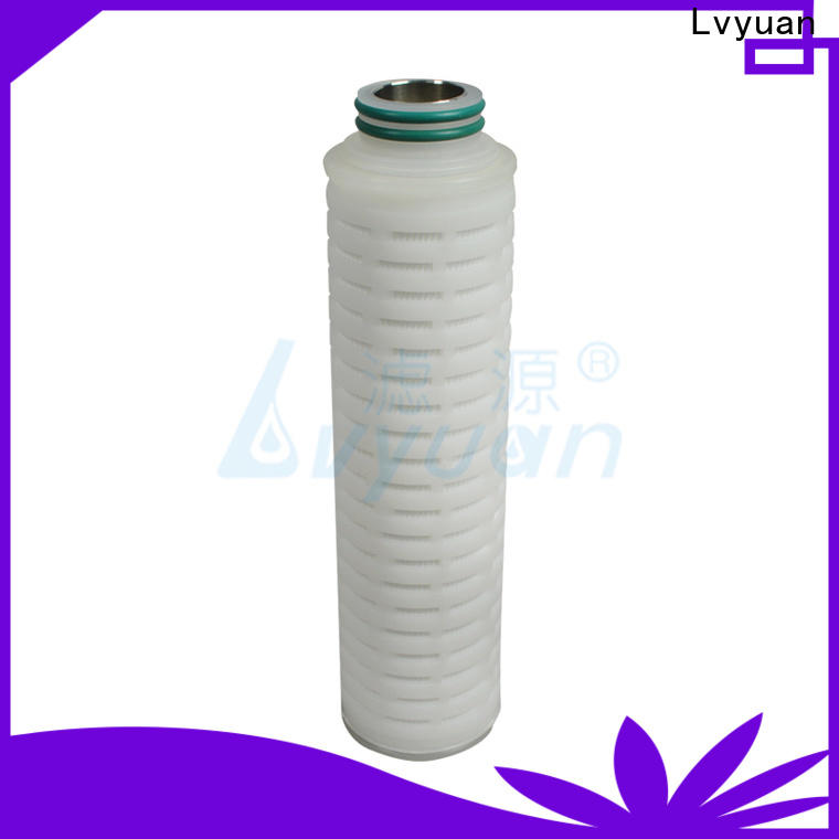 Lvyuan nylon pleated filter cartridge with stainless steel for liquids sterile filtration