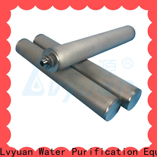 activated carbon sintered metal filters suppliers rod for food and beverage