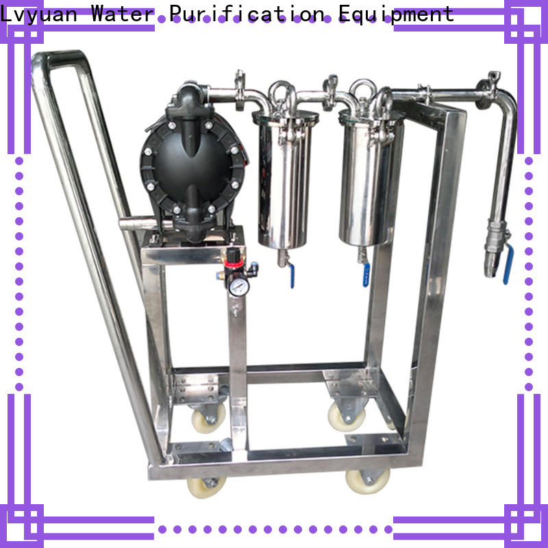 Lvyuan stainless water filter housing with fin end cap for sea water desalination