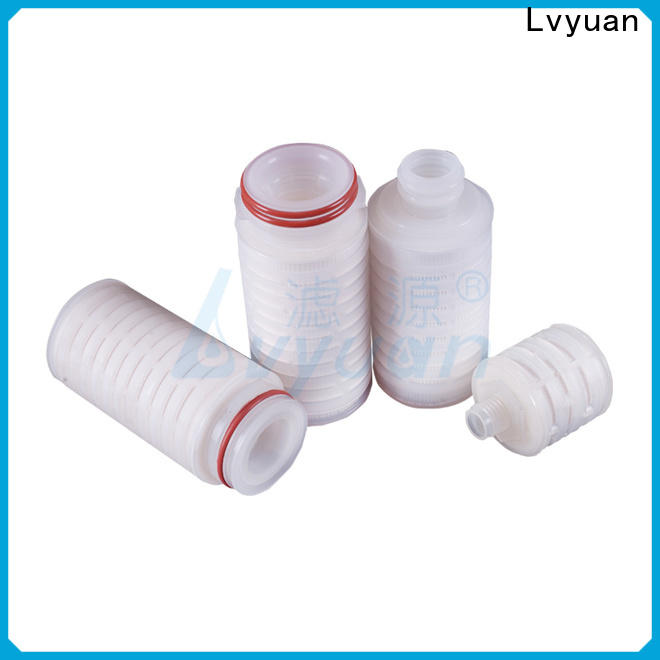Lvyuan water pleated water filters with stainless steel for diagnostics