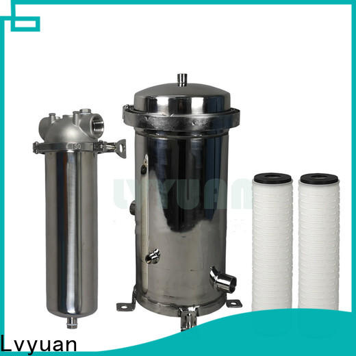 Lvyuan stainless steel filter housing manufacturers with core for sea water treatment