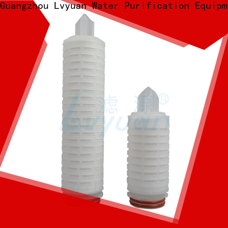 Lvyuan pes pleated filter cartridge suppliers manufacturer for sea water desalination